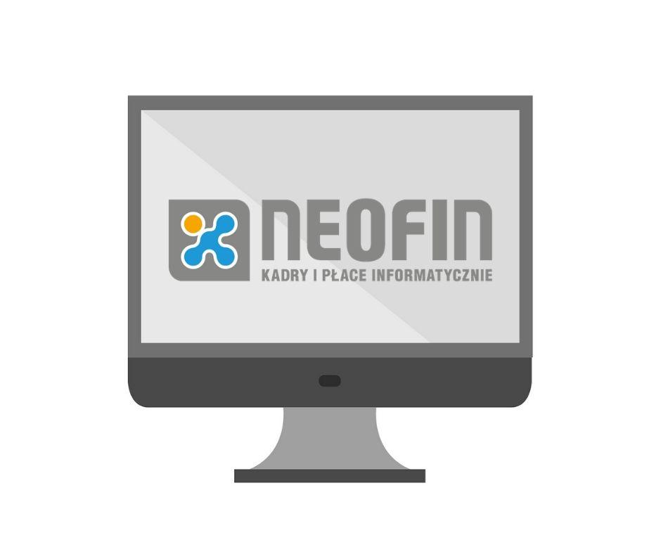monitor z logo Neofin kadry i płace informatycznie
